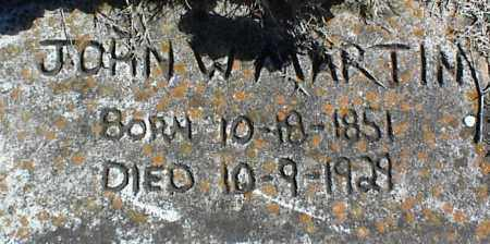 MARTIN, JOHN W. - Stone County, Arkansas | JOHN W. MARTIN - Arkansas Gravestone Photos