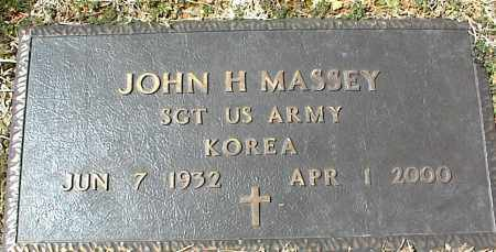 MASSEY  (VETERAN KOR), JOHN H - Stone County, Arkansas | JOHN H MASSEY  (VETERAN KOR) - Arkansas Gravestone Photos