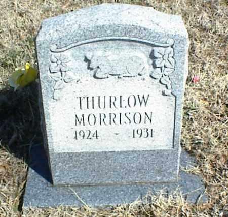 MORRISON, THURLOW - Stone County, Arkansas   THURLOW MORRISON - Arkansas Gravestone Photos