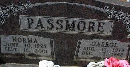 PASSMORE, CARROL - Stone County, Arkansas | CARROL PASSMORE - Arkansas Gravestone Photos