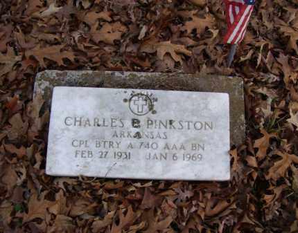 PINKSTON (VETERAN), CHARLES E. - Stone County, Arkansas | CHARLES E. PINKSTON (VETERAN) - Arkansas Gravestone Photos