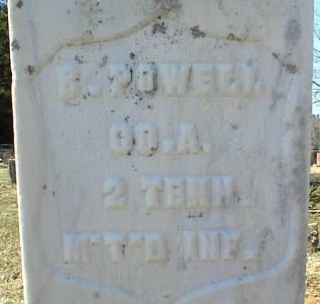 POWELL  (VETERAN UNION), B - Stone County, Arkansas   B POWELL  (VETERAN UNION) - Arkansas Gravestone Photos