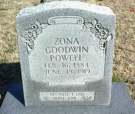 GOODWIN POWELL, ZONA - Stone County, Arkansas | ZONA GOODWIN POWELL - Arkansas Gravestone Photos