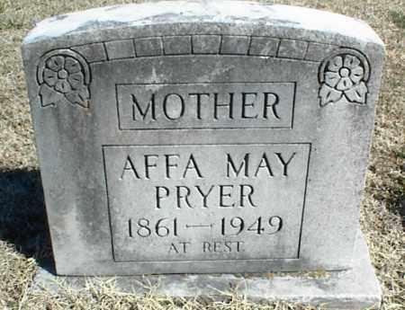 PRYER, AFFA MAY - Stone County, Arkansas | AFFA MAY PRYER - Arkansas Gravestone Photos