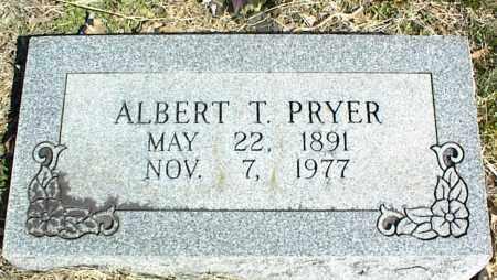 PRYER, ALBERT T. - Stone County, Arkansas   ALBERT T. PRYER - Arkansas Gravestone Photos