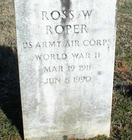 ROPER (VETERAN WWII), ROSS W - Stone County, Arkansas | ROSS W ROPER (VETERAN WWII) - Arkansas Gravestone Photos