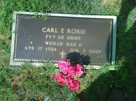 RORIE  (VETERAN WWII), CARL E - Stone County, Arkansas | CARL E RORIE  (VETERAN WWII) - Arkansas Gravestone Photos