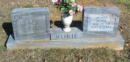 RORIE, ALPHA - Stone County, Arkansas | ALPHA RORIE - Arkansas Gravestone Photos