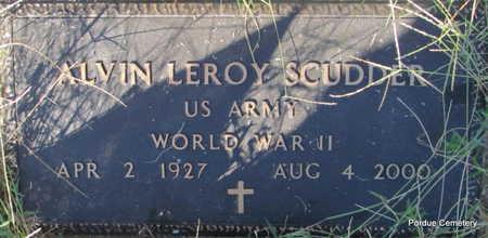 SCUDDER  (VETERAN WWII), ALVIN LEROY - Stone County, Arkansas | ALVIN LEROY SCUDDER  (VETERAN WWII) - Arkansas Gravestone Photos