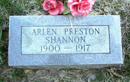 SHANNON, ARLEN PRESTON - Stone County, Arkansas | ARLEN PRESTON SHANNON - Arkansas Gravestone Photos