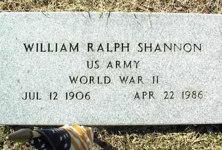 SHANNON (VETERAN WWII), WILLIAM RALPH - Stone County, Arkansas | WILLIAM RALPH SHANNON (VETERAN WWII) - Arkansas Gravestone Photos