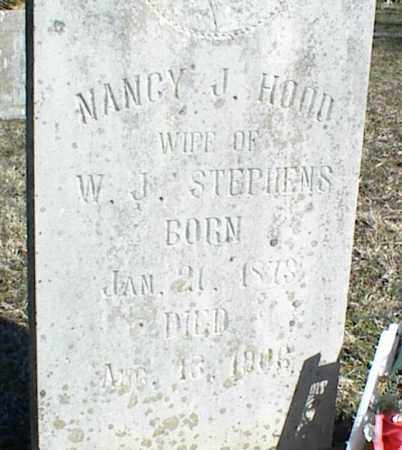 HOOD STEPHENS, NANCY J. - Stone County, Arkansas   NANCY J. HOOD STEPHENS - Arkansas Gravestone Photos