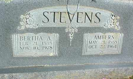 STEVENS, BERTHA A. - Stone County, Arkansas   BERTHA A. STEVENS - Arkansas Gravestone Photos