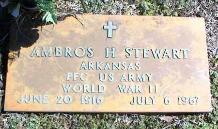 STEWART  (VETERAN WWII), AMBROS H - Stone County, Arkansas | AMBROS H STEWART  (VETERAN WWII) - Arkansas Gravestone Photos