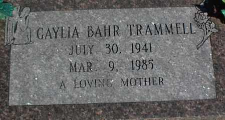 BAHR TRAMMELL, GAYLIA - Stone County, Arkansas | GAYLIA BAHR TRAMMELL - Arkansas Gravestone Photos
