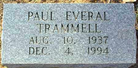 TRAMMELL, PAUL EVERAL - Stone County, Arkansas   PAUL EVERAL TRAMMELL - Arkansas Gravestone Photos