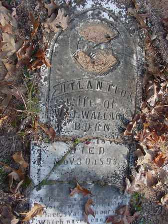 WALLACE, ATLANTIC - Stone County, Arkansas | ATLANTIC WALLACE - Arkansas Gravestone Photos