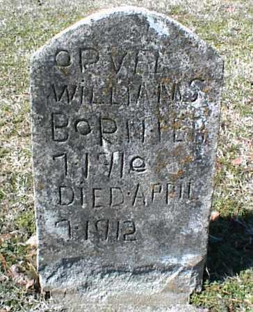 WILLIAMS, ORVEL - Stone County, Arkansas | ORVEL WILLIAMS - Arkansas Gravestone Photos
