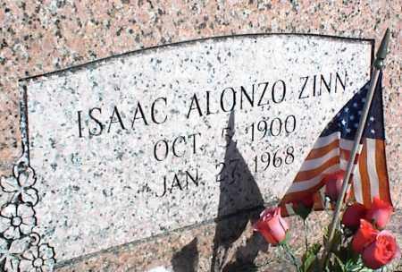 ZINN, ISAAC ALONZO - Stone County, Arkansas   ISAAC ALONZO ZINN - Arkansas Gravestone Photos