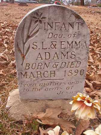 ADAMS, INFANT DAUGHTER - Union County, Arkansas | INFANT DAUGHTER ADAMS - Arkansas Gravestone Photos