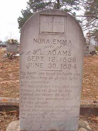 ADAMS, NORA EMMA - Union County, Arkansas | NORA EMMA ADAMS - Arkansas Gravestone Photos