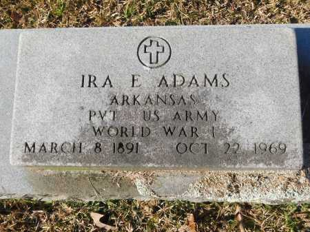 ADAMS (VETERAN WWI), IRA E - Union County, Arkansas | IRA E ADAMS (VETERAN WWI) - Arkansas Gravestone Photos