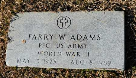 ADAMS (VETERAN WWII), FARRY W - Union County, Arkansas   FARRY W ADAMS (VETERAN WWII) - Arkansas Gravestone Photos