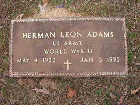ADAMS (VETERAN WWII), HERMAN LEON - Union County, Arkansas | HERMAN LEON ADAMS (VETERAN WWII) - Arkansas Gravestone Photos