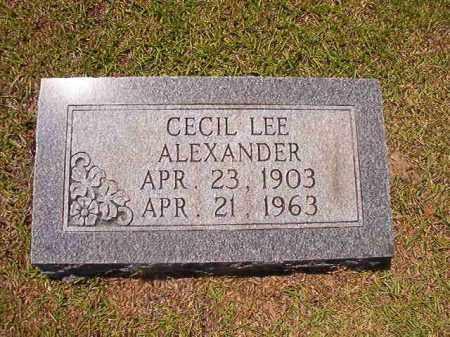 ALEXANDER, CECIL LEE - Union County, Arkansas | CECIL LEE ALEXANDER - Arkansas Gravestone Photos
