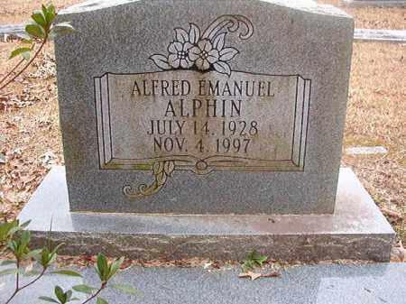 ALPHIN, ALFRED EMANUEL - Union County, Arkansas   ALFRED EMANUEL ALPHIN - Arkansas Gravestone Photos