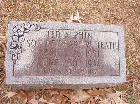ALPHIN, TED - Union County, Arkansas   TED ALPHIN - Arkansas Gravestone Photos