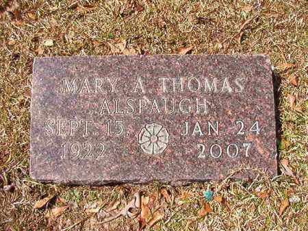 ALSPAUGH, MARY A - Union County, Arkansas | MARY A ALSPAUGH - Arkansas Gravestone Photos