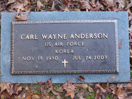 ANDERSON (VETERAN KOR), CARL WAYNE - Union County, Arkansas   CARL WAYNE ANDERSON (VETERAN KOR) - Arkansas Gravestone Photos
