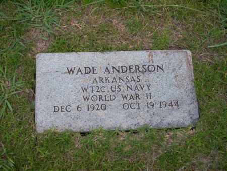 ANDERSON (VETERAN WWII), WADE - Union County, Arkansas | WADE ANDERSON (VETERAN WWII) - Arkansas Gravestone Photos