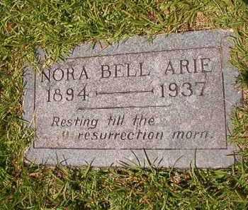 ARIE, NORA BELL - Union County, Arkansas   NORA BELL ARIE - Arkansas Gravestone Photos