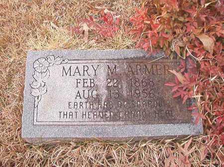 ARMER, MARY M - Union County, Arkansas   MARY M ARMER - Arkansas Gravestone Photos