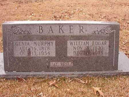 BAKER, WILLIAM EDGAR - Union County, Arkansas | WILLIAM EDGAR BAKER - Arkansas Gravestone Photos