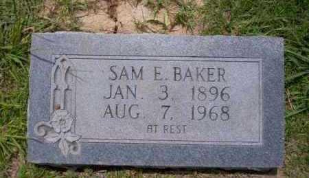 BAKER, SAM E - Union County, Arkansas | SAM E BAKER - Arkansas Gravestone Photos