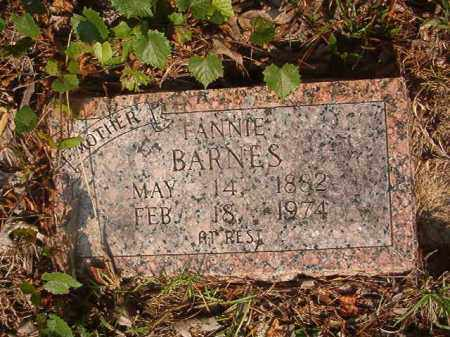 BARNES, FANNIE - Union County, Arkansas   FANNIE BARNES - Arkansas Gravestone Photos