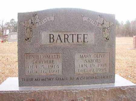 BARTEE, BENTLEY DEVERDIE (MATT) - Union County, Arkansas   BENTLEY DEVERDIE (MATT) BARTEE - Arkansas Gravestone Photos