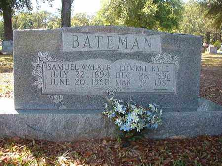 BATEMAN, SAMUEL WALKER - Union County, Arkansas | SAMUEL WALKER BATEMAN - Arkansas Gravestone Photos