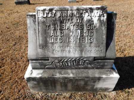 LEFAVOR BATES, LUCY ANN - Union County, Arkansas | LUCY ANN LEFAVOR BATES - Arkansas Gravestone Photos