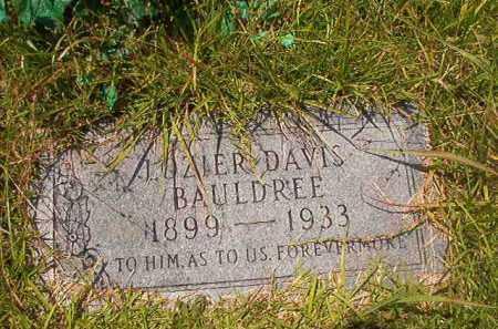 BAULDREE, LOZIER DAVIS - Union County, Arkansas   LOZIER DAVIS BAULDREE - Arkansas Gravestone Photos