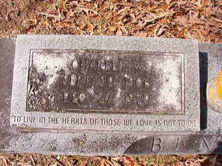 BENSON, CHARLES W - Union County, Arkansas | CHARLES W BENSON - Arkansas Gravestone Photos