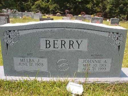 BERRY, JOHNNIE A - Union County, Arkansas | JOHNNIE A BERRY - Arkansas Gravestone Photos