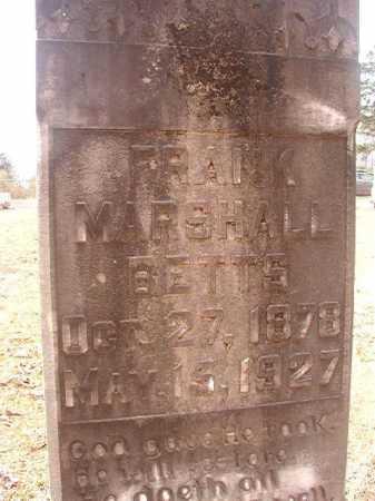 BETTS, FRANK MARSHALL - Union County, Arkansas | FRANK MARSHALL BETTS - Arkansas Gravestone Photos