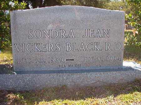 VICKERS BLACK, SONDRA JEAN - Union County, Arkansas | SONDRA JEAN VICKERS BLACK - Arkansas Gravestone Photos