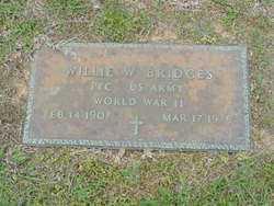 BRIDGES (VETERAN WWII), WILLIE - Union County, Arkansas | WILLIE BRIDGES (VETERAN WWII) - Arkansas Gravestone Photos