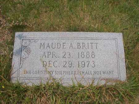 BRITT, MAUDE A - Union County, Arkansas   MAUDE A BRITT - Arkansas Gravestone Photos