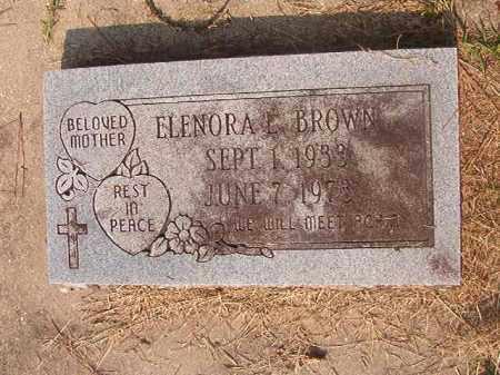 BROWN, ELNORA L - Union County, Arkansas | ELNORA L BROWN - Arkansas Gravestone Photos